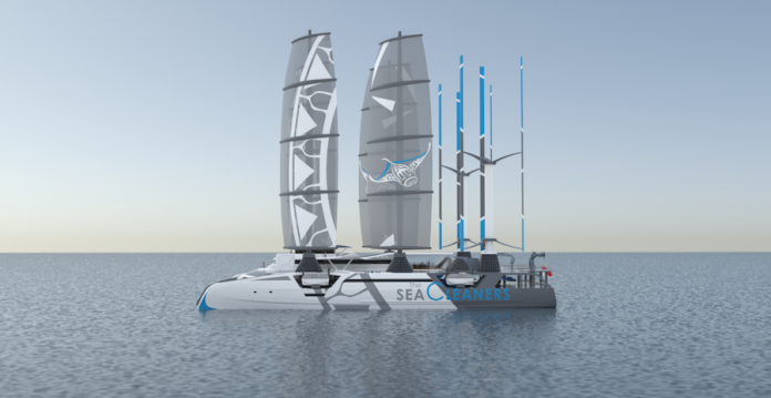 Manta, el barco ecológico que limpia el océano a su paso