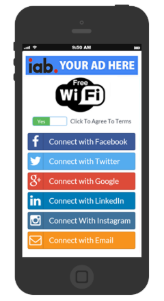 social login wifi hotspot