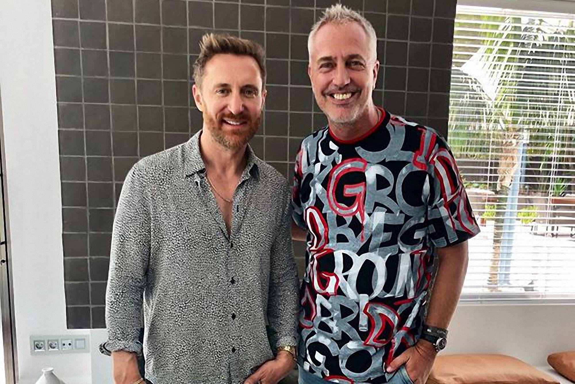 Marley y Mirko en Ibiza con David Guetta