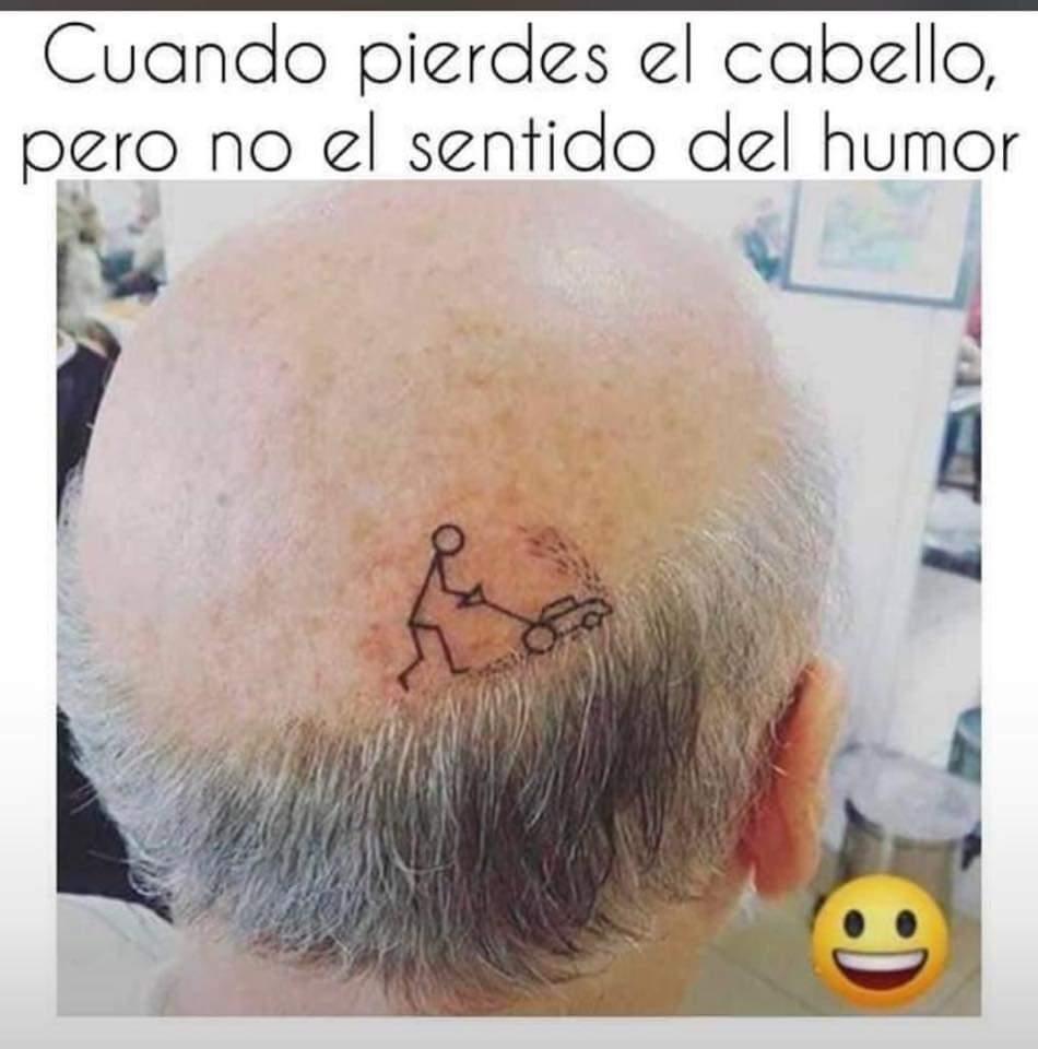 Cuando pierdes el cabello pero no el sentido del humor